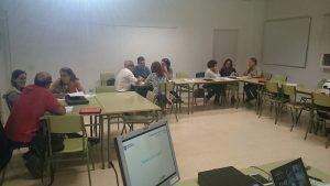 Trabajando con el grupo de Tenerife en la primera promoción de la 1ª fase